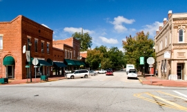 View from courthouse square in Eatonton